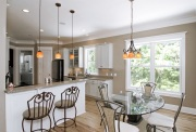 upscale kitchen and dining room
